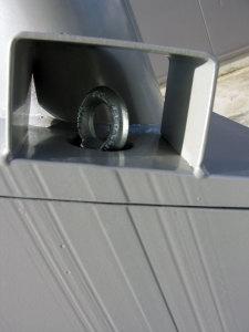 detail slotbeveiliging hydraulisch kantelbare cameramast